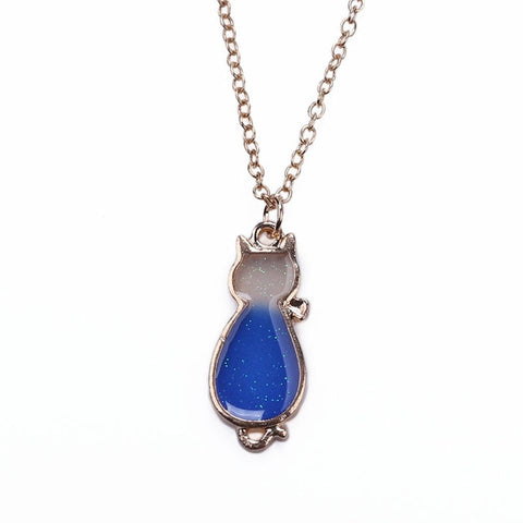 Free Blue Cat  Necklaces