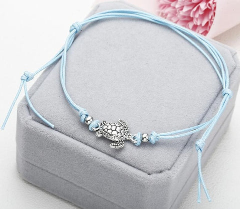 Turtle Shaped Charm String Anklet