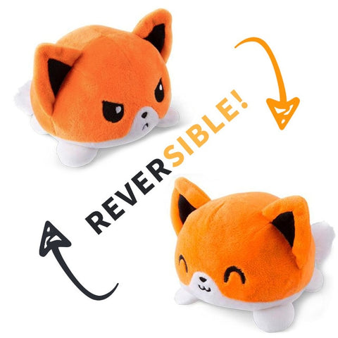 Reversible Cat Plush (orange double sided flip plush)