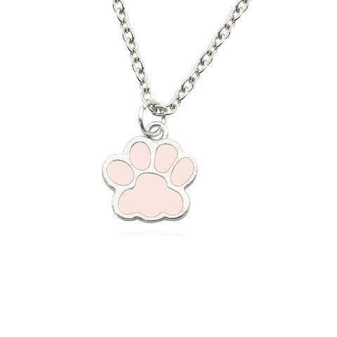 Enamel Paw Necklace