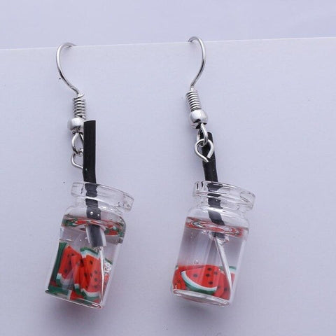 """Fruit in a Box"" Earrings"