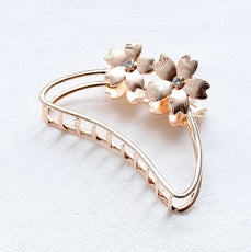 Rose Gold Flower Hair Claw