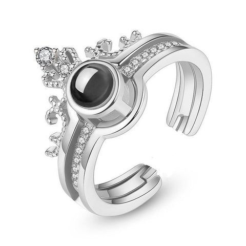 I♥U in 100 Languages Crown Ring