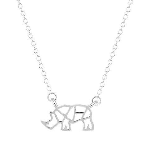 Rhinoceros Hollow Necklace