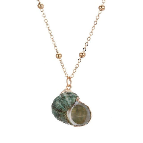 Green Snail necklace