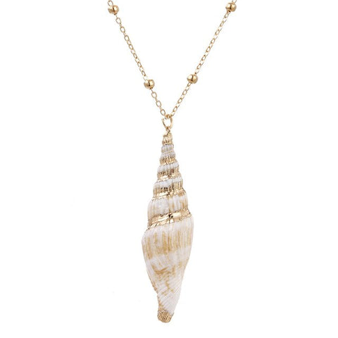 Gold Large Shell Necklace