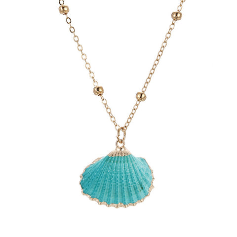 Blueish Classic Shell Necklace