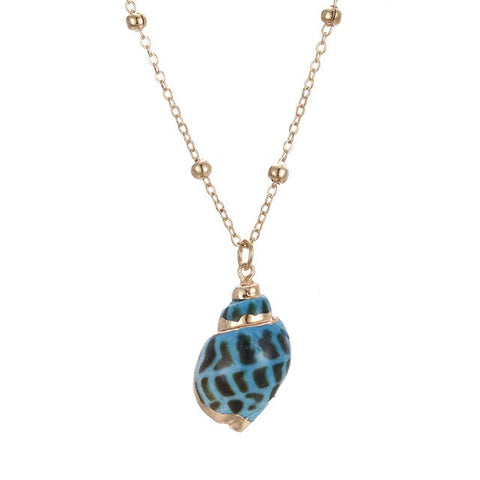 New Blueish Shell Necklace