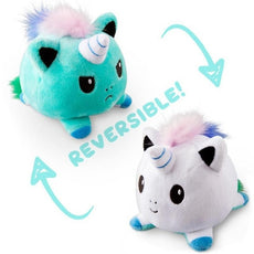 Reversible Unicorn Plush (arctic-lavanda double sided flip plush)