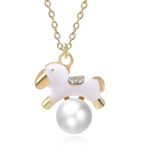 White Animal Necklaces