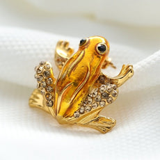 The Golden Toad Brooch