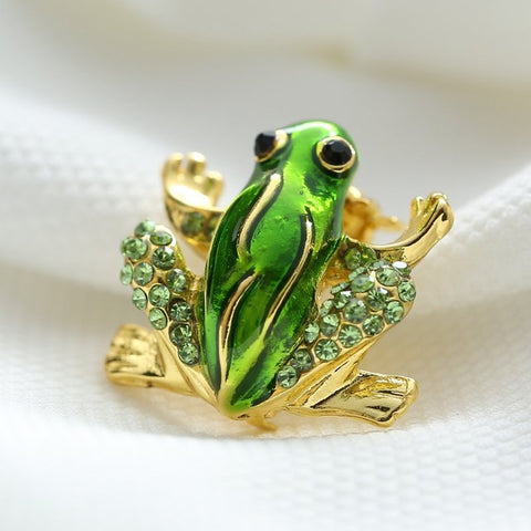 New Green Frog Brooch