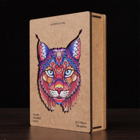 Wooden Lynx Puzzle