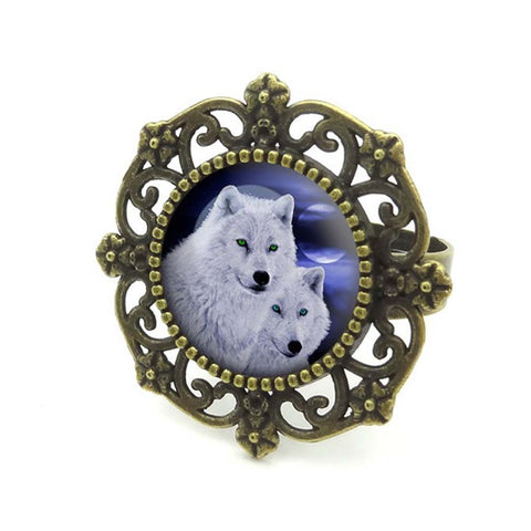 Moon Wolf Ring