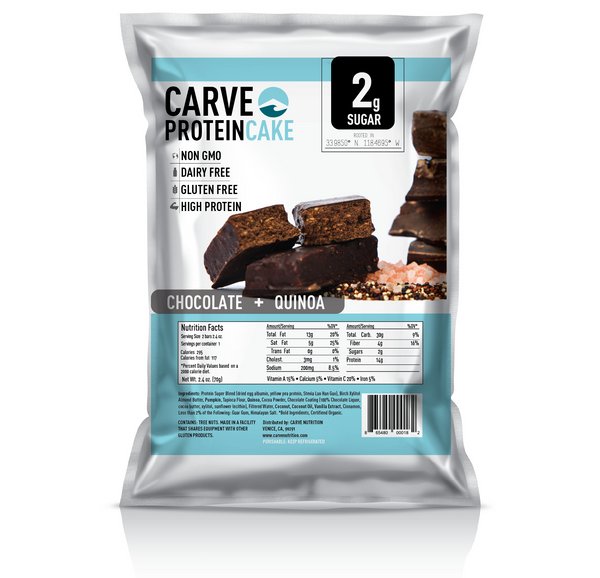 Chocolate Cake w/Quinoa <br> 10 Packs <br>(2 Bars in each pack)
