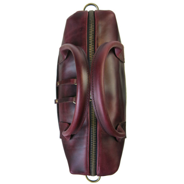 Luxe Workcase | Horween OxBlood Leather with Plaid Wax Canvas Interior | 1 Remains