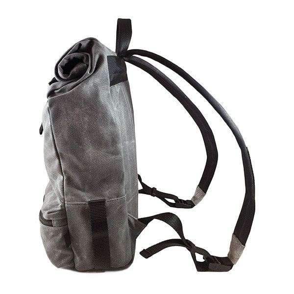 Theodore Rolltop Backpack | Grey Wax Canvas