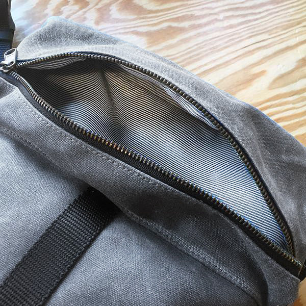 Theodore Rolltop Backpack | Grey Wax Canvas | 1 OF 1 SAMPLE / NEW