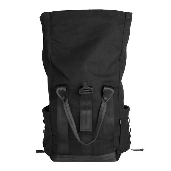 VerBockel Rolltop Backpack | Black Wax Canvas