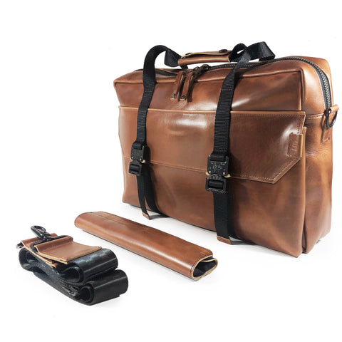 Defender Briefcase | Horween Cavalier Whiskey Leather Bundle | Last Couple