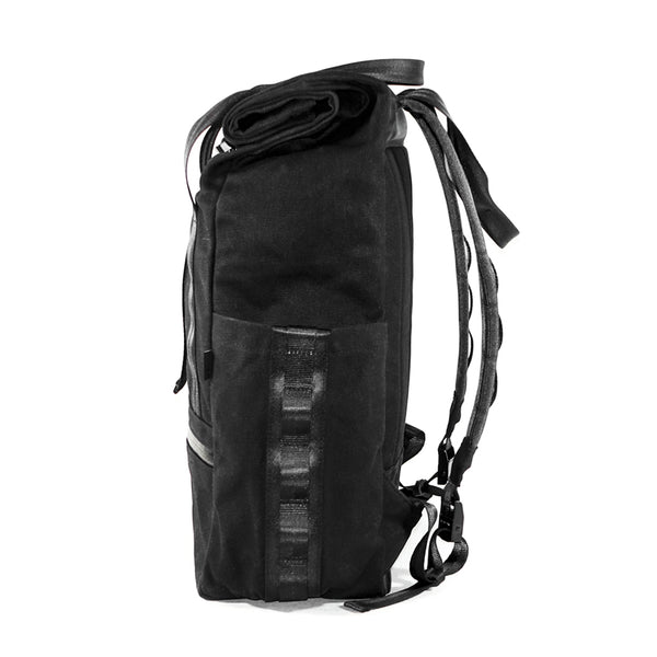 VerBockel Rolltop Backpack 2.0 'Un-Zipped' | Black Wax Canvas
