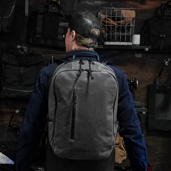 Bucktown Backpack | Gray Wax Canvas