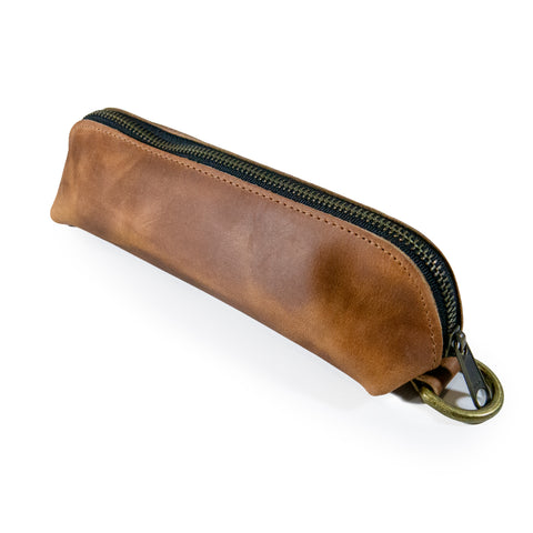 Sample Sale | Gear Pouch | Horween Rodeo Brown Leather | Raw Interior | Limited Quantities