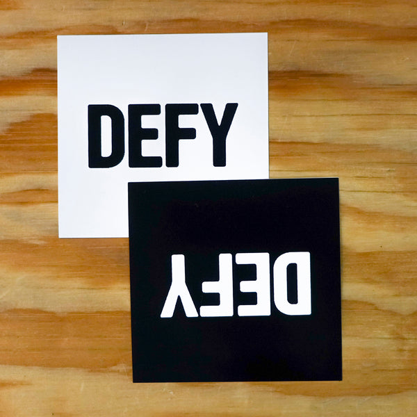 Big DEFY Sticker Two Pack