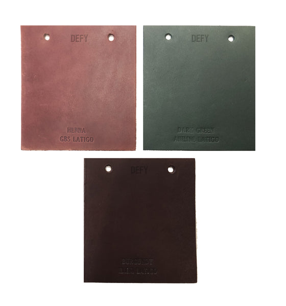 Horween Leather Tannery x DEFY Swatch Book Coasters | Set of 3