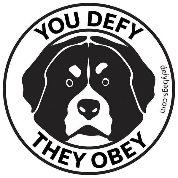 YOU DEFY, THEY OBEY | The Otis Sticker | Black on White