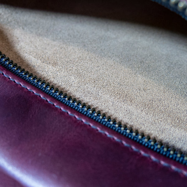 Large Gear Pouch | Horween Oxblood Leather | Naked Leather Interior