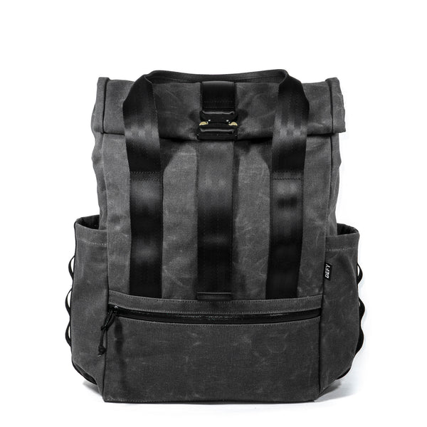 VerBockel Rolltop Backpack 2.0 'Un-Zipped' | Space Gray Wax Canvas