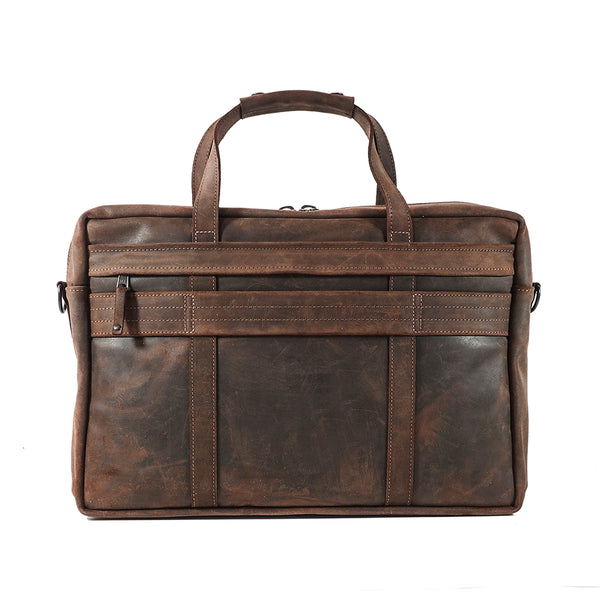 Defender Briefcase | Charles F Stead and Co Ltd. Edition | Mole Waxy Commander Leather | Limited Qty | Ships 3-4 Weeks