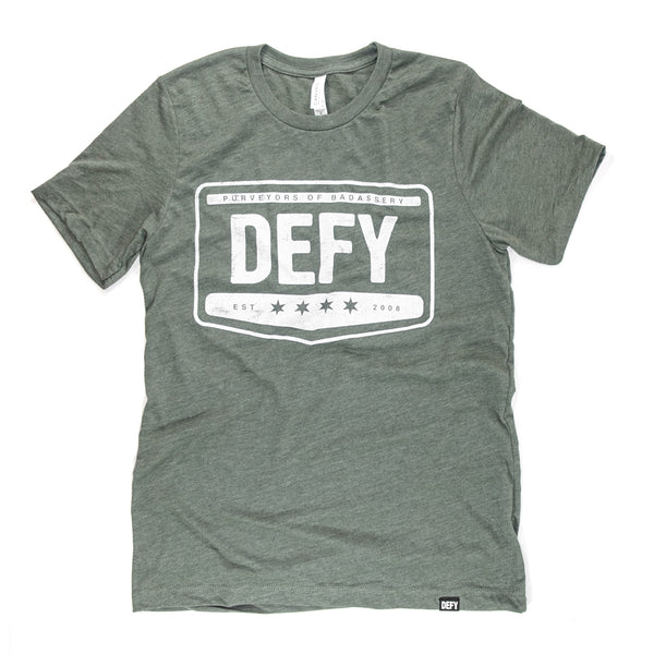 Badassery Tee | Military Green Heather