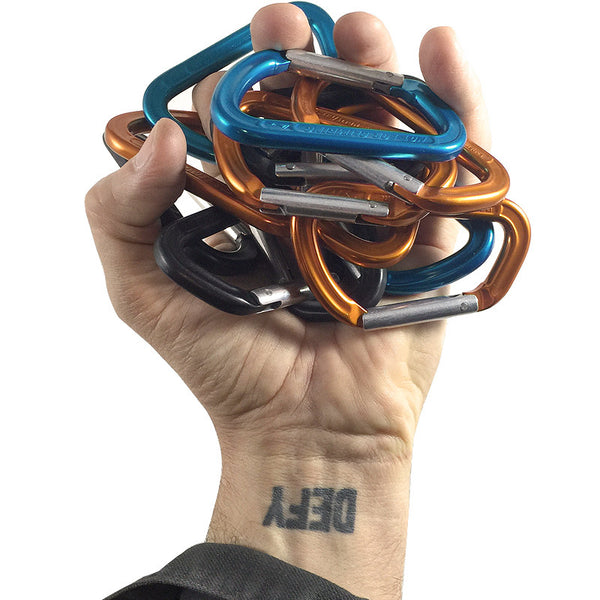 AustriAlpin Carabiner - Collector's Pack - Orange, Blue, Black
