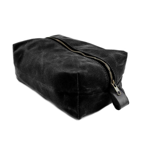 Dopp Kit | Black Wax Canvas | 2 Qty.
