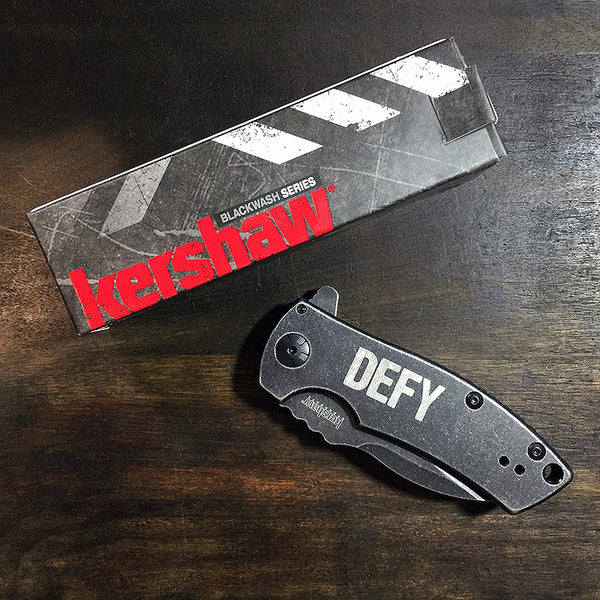 DEFY X Kershaw Spline BlackWash™ Knife  |  Limited Edition