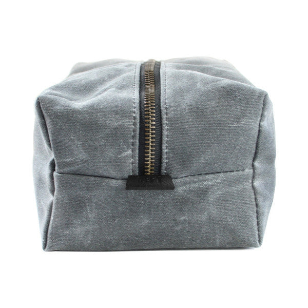Dopp Kit | Grey Wax Canvas