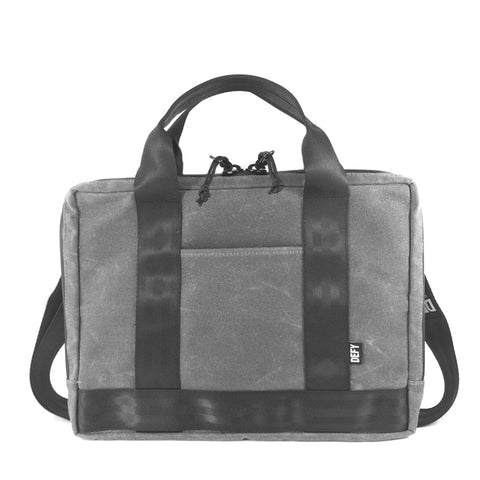 Slim Briefcase | Grey Wax Canvas