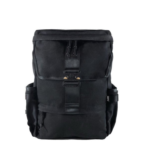 The Menace Backpack | Black Waxed Canvas
