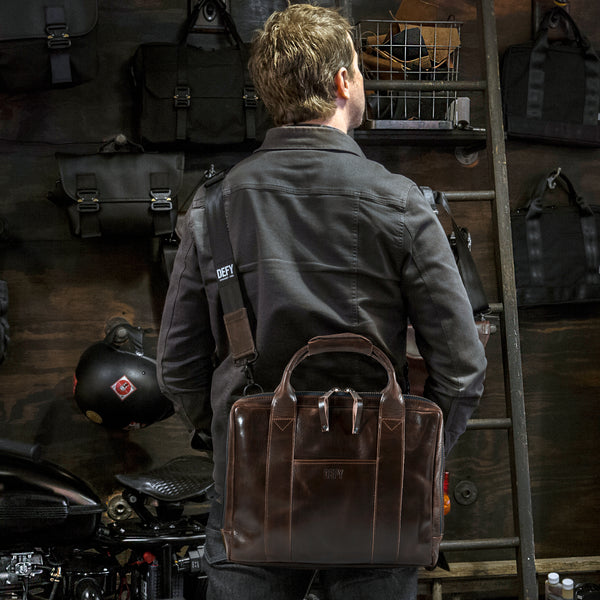 Slim Briefcase | Horween Glace Mystic Walnut Leather | 1 Remains