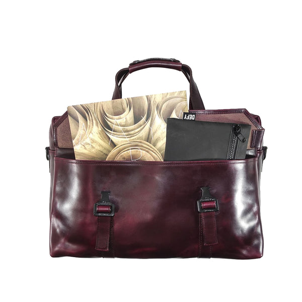 Defender Briefcase | Horween OxBlood Leather Strap Edition | Last 1