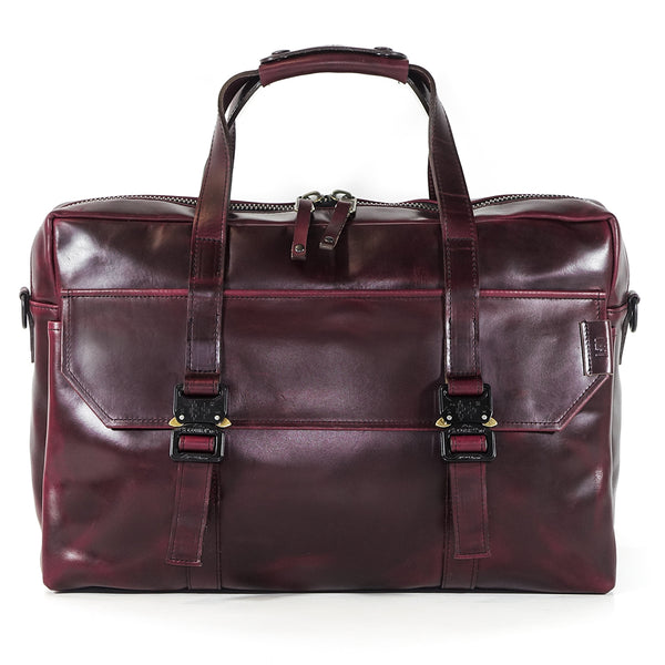 Defender Briefcase | Horween OxBlood Leather Strap Edition