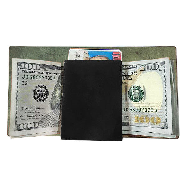 Swaddle Wallet | Horween Black Cordovan Leather | VERY LIMITED
