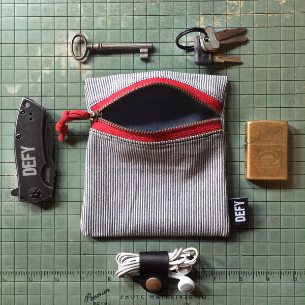 Half Gear Kit | Japanese Train Conductor Cotton | Japanese Denim Lining | Red Zipper