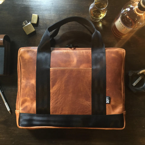 Slim Briefcase | Tumbled Dublin Horween Leather Collector Edition | Qty 1