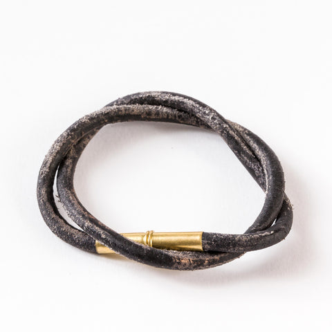 Flint Patina Bracelet | Black | Tres Cuervos | Limited Qty