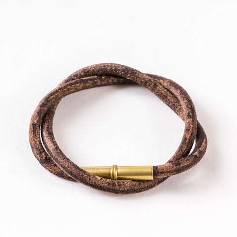 Flint Patina Bracelet | Brown | Tres Cuervos