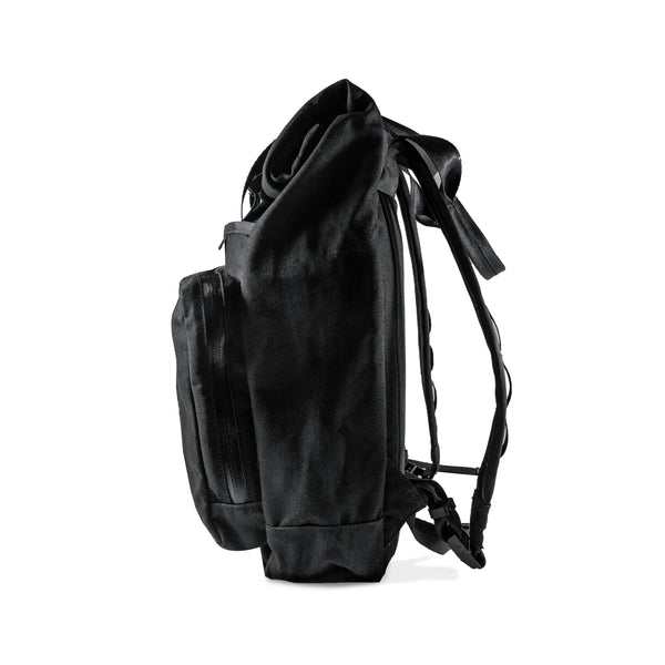 VerBockel 'Day Pack' Rolltop Backpack | Black Waxed Canvas