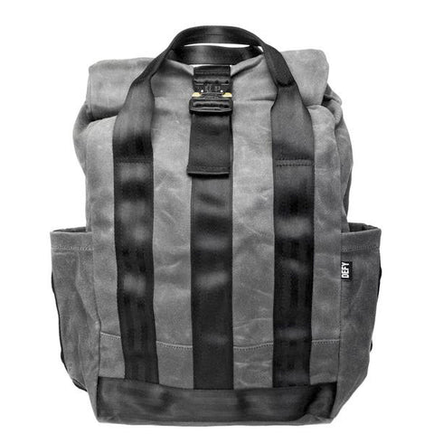 VerBockel Rolltop Backpack | Grey Wax Canvas